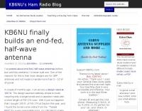 KB6NU End-fed Half-Wave for 20m