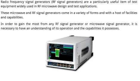 RF Radio Frequency Signal Generator