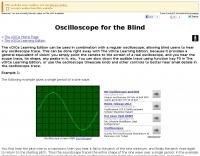 Oscilloscope for the Blind