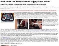 DXZone Fix the Astron Power Supply Amp Meter