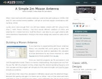 A simple 2m Moxon Antenna