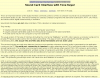 Sound Card Interface with Tone Keyer