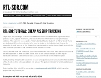 RTL-SDR Tutorial: Cheap AIS Ship Tracking