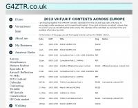 VHF UHF Contest Calendar