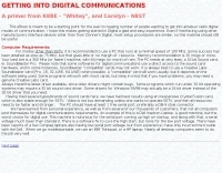 Getting started in Digital Communications