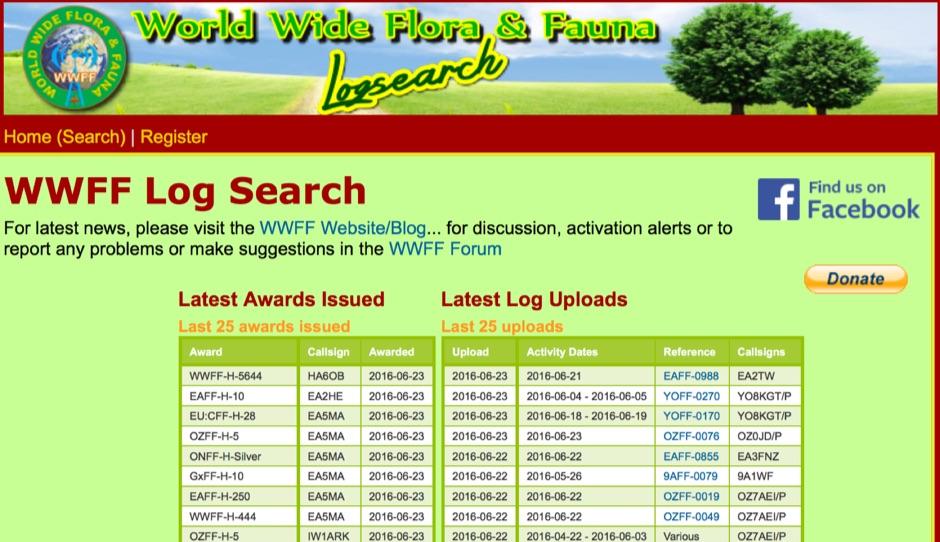DXZone WWFF Logsearch