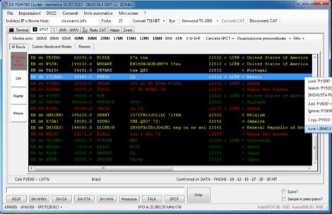 DX Fighter - DX Cluster client