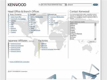 Kenwood Software download page