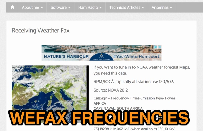 WEFAX Frequencies