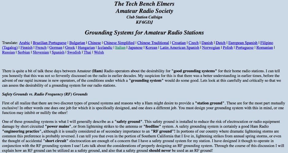 Grounding Systems for Hams
