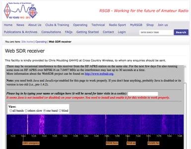 WebSDR - RSGB