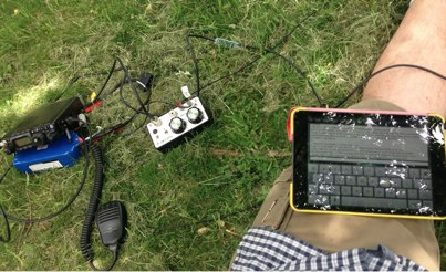 iPad and  FT-817