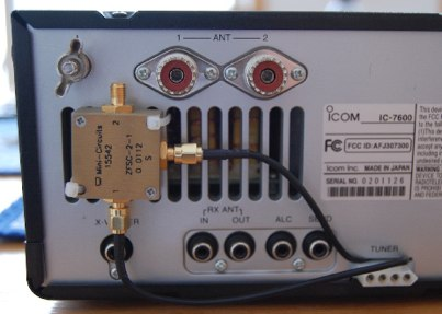 IC-7600 Scope IF tap for RTL SDR