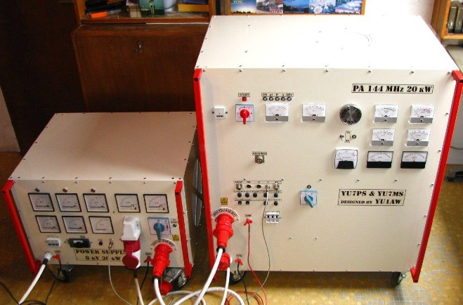 20 kW Power Amplifier for 144 MHz