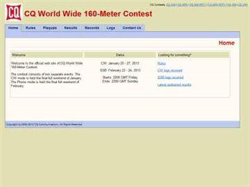 CQ WW 160 Contest