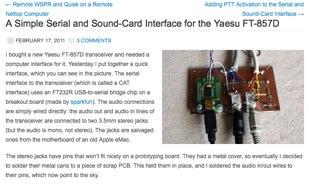 DXZone Sound-Card Interface for the Yaesu FT-857D
