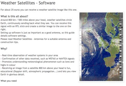 Receive weather satellite images