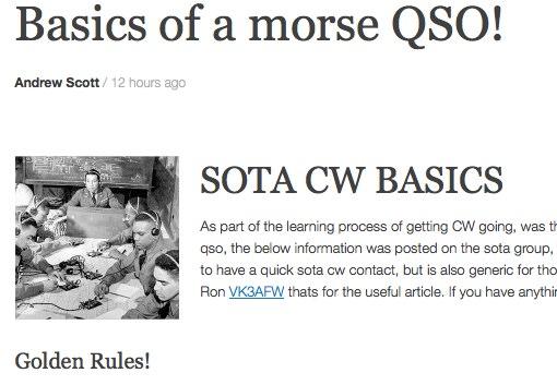 Basics of CW operations