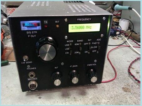 80-20m homebrew CW SSB Transciever