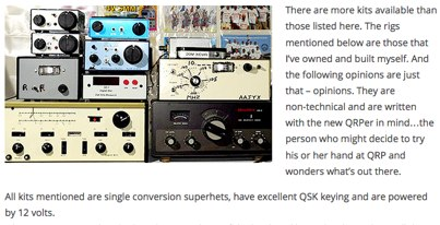 QRP Transceiver Kits Mini-Review