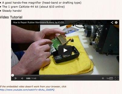 Repair membrane buttons
