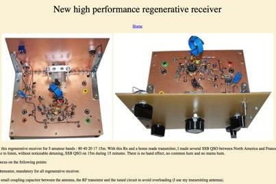 DXZone High performance regenerative receiver