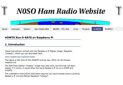 D-RATS on Raspberry Pi