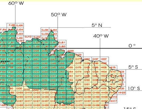 Brazil Grid Map