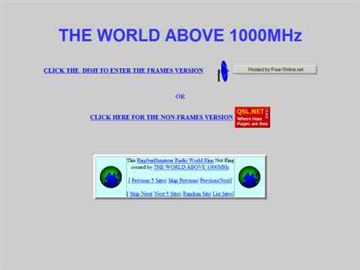The World above 1000 MHz