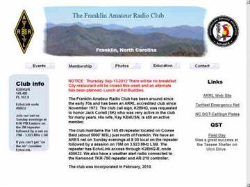 K2BHQ The Franklin Amateur Radio Club