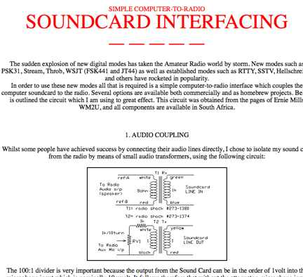 Sound Card Interfacing