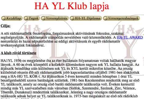 HA YL Klub
