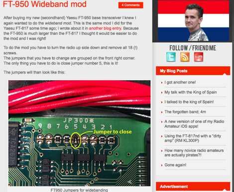 FT-950 Wideband mod