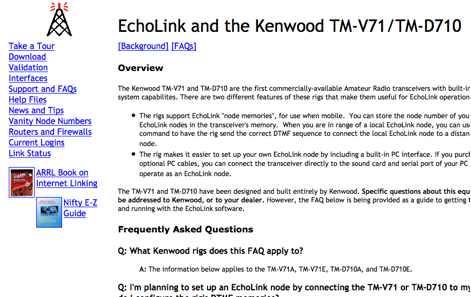 EchoLink and Kenwood TM-D710