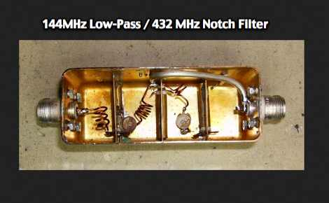 144MHz Low-Pass / 432 MHz Notch Filter