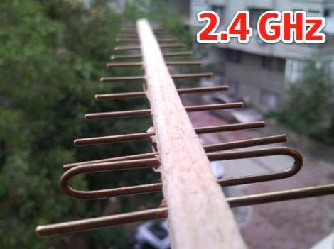 2.4 GHz  homemade antenna