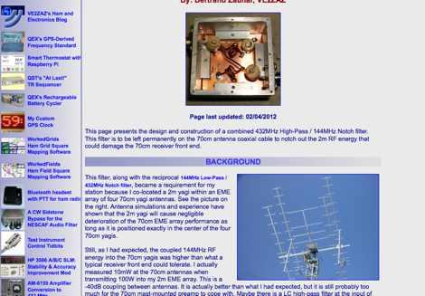 432 144 MHz Notch Filter