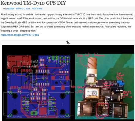 DXZone Kenwood TM-D710 GPS DIY