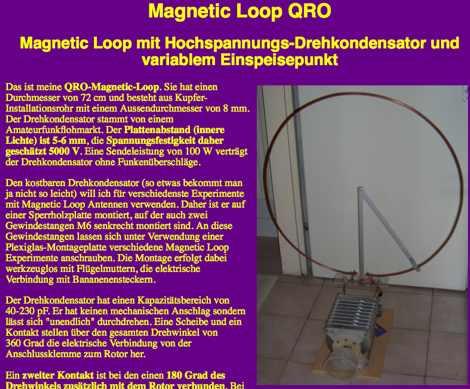 DXZone Magnetic Loop QRO