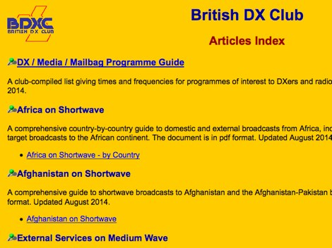British DX Club Articles