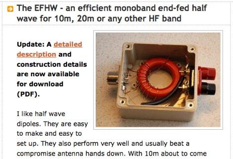 The EFHW Antenna