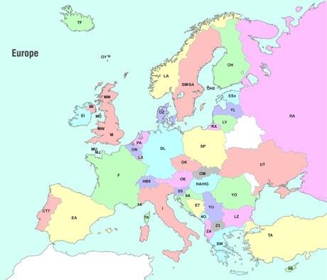 Europe Ham Radio Map
