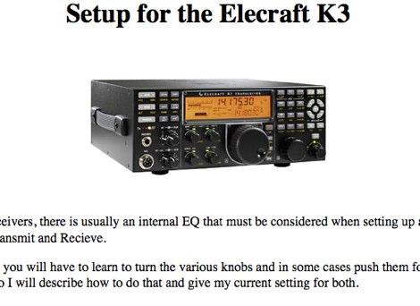 Elecraft K3 Audio setup