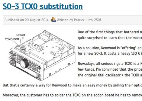 TS-590S SO-3 TCXO substitution
