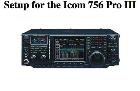 Icom 756 Pro III Audio settings