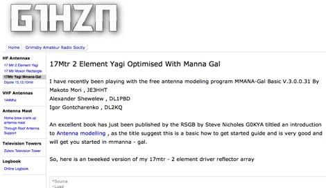 17Mtr 2 Element Yagi