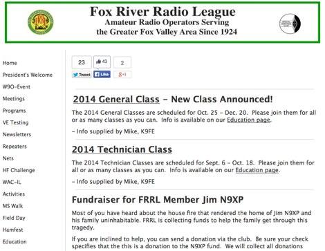 DXZone Fox River Radio League