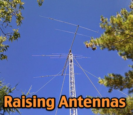 Raising a Yagi Onto a Guyed Tower