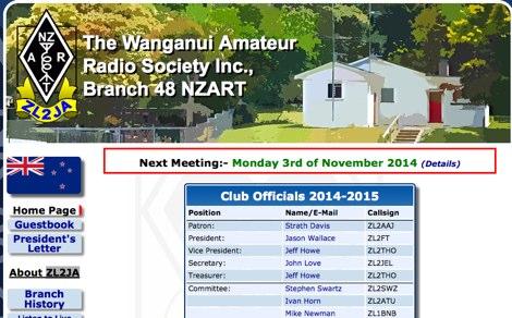 DXZone ZL2JA The Wanganui Amateur Radio Society Inc