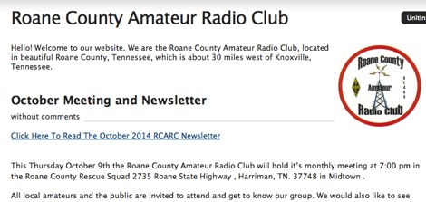 Roane County Amateur Radio Club